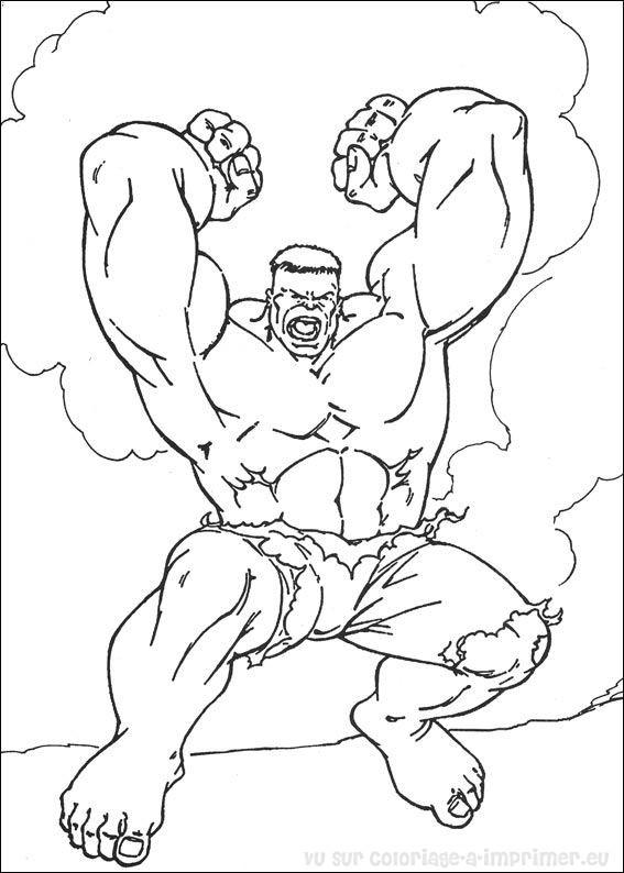 top dessin à colorier hulk