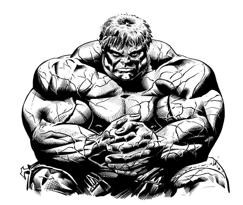 coloriage à dessiner de hulk 3