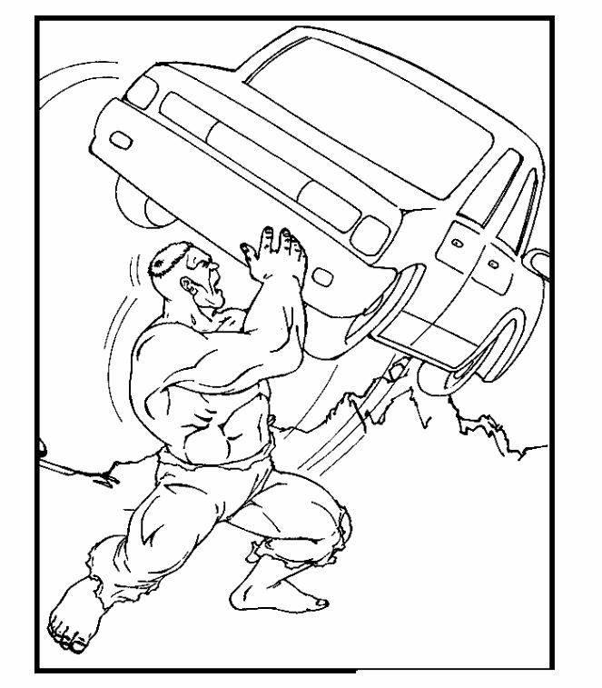 dessin à colorier hulk 2 en ligne