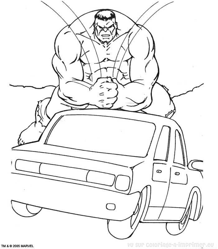 coloriage à dessiner hulk buster