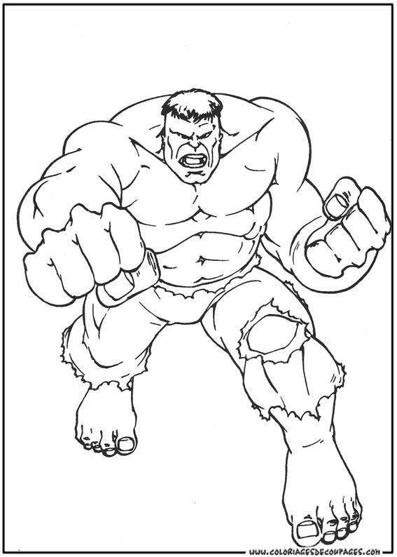 coloriage à dessiner hulk 4