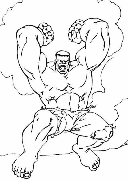 livre dessin à colorier hulk