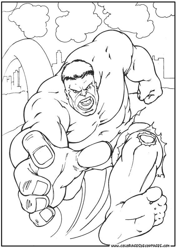 coloriage à dessiner incroyable hulk
