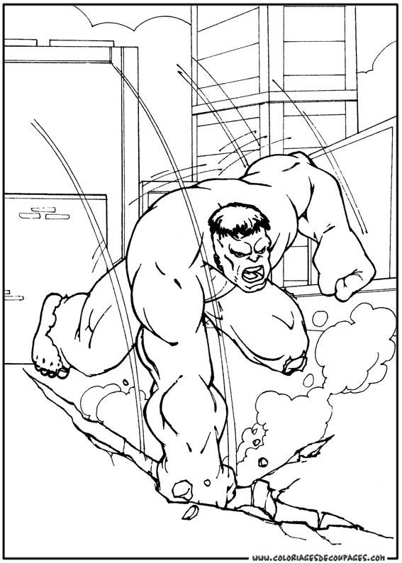 dessin à imprimer hulk