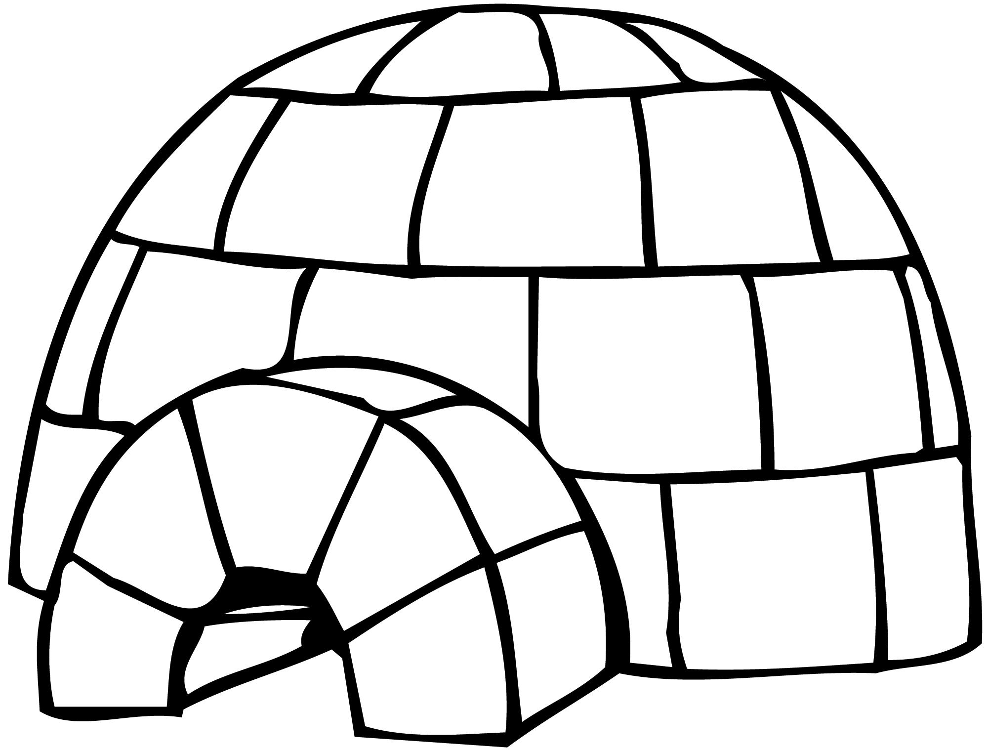 dessin igloo coloriage à dessiner
