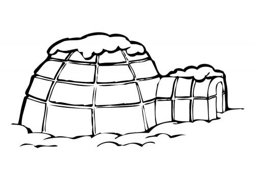 dessin igloo gratuit