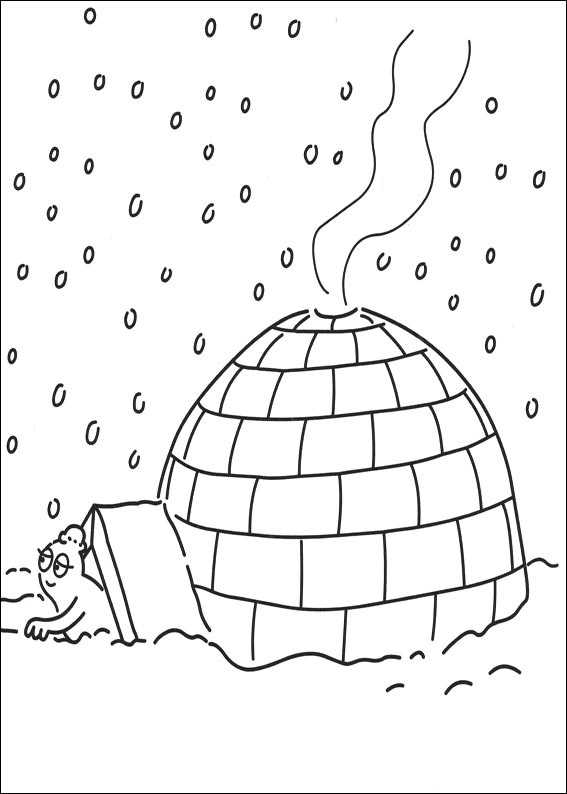 coloriage igloo gratuit