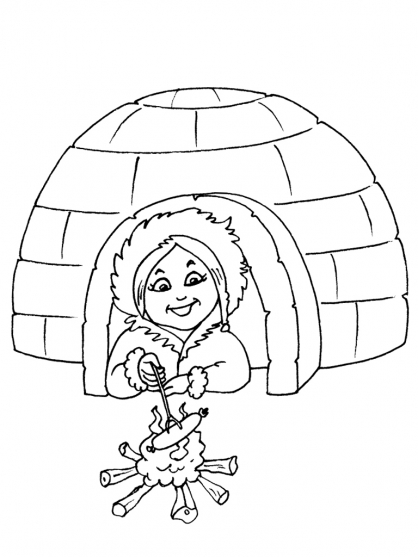 dessin igloo
