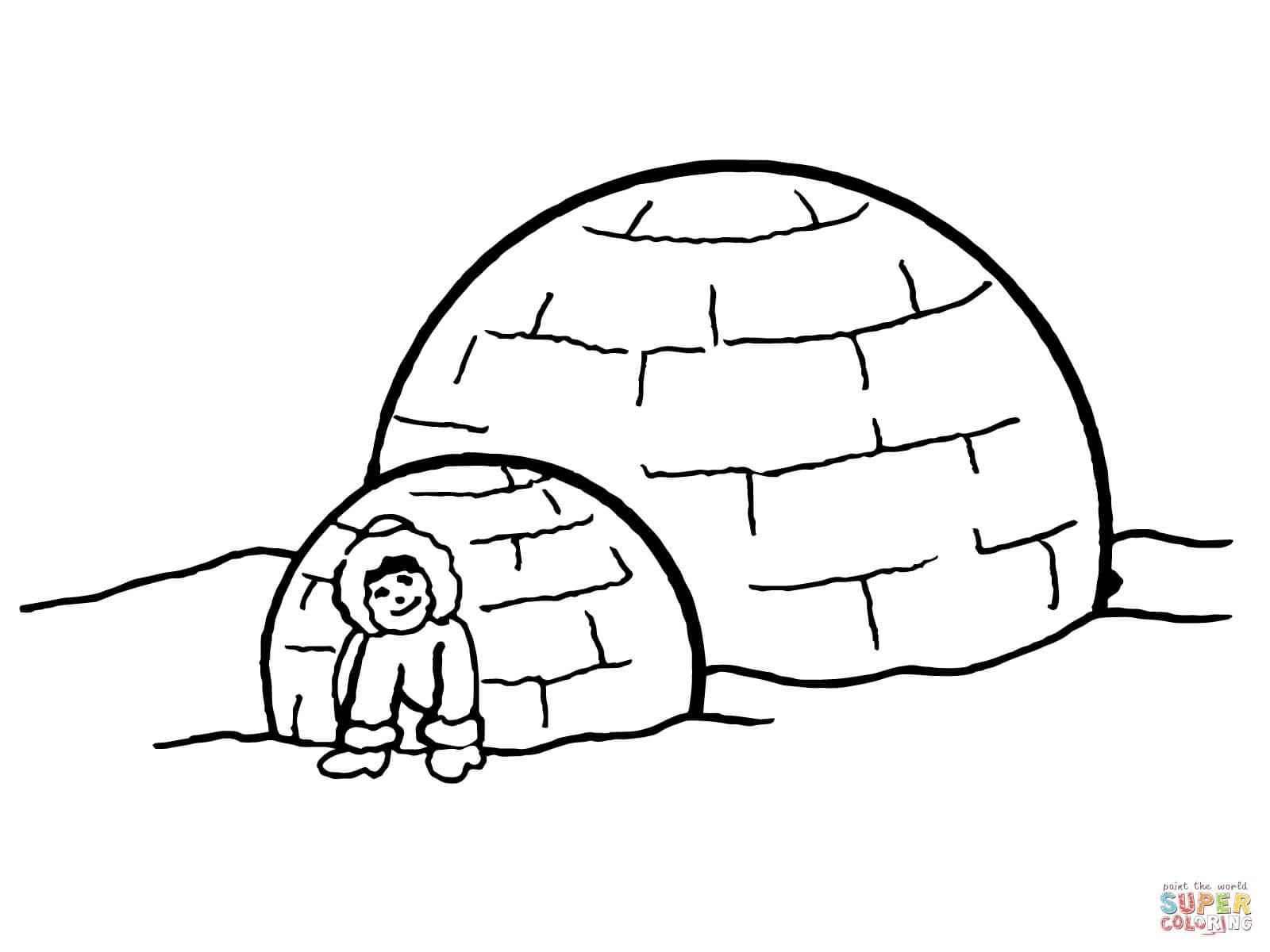 coloriage un igloo