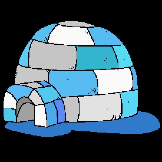 dessin � colorier igloo � imprimer