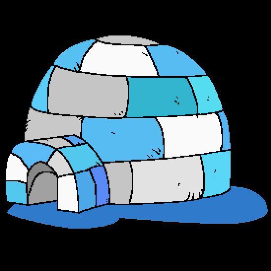 dessin à colorier igloo à imprimer