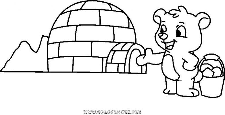 coloriage � dessiner d'un igloo