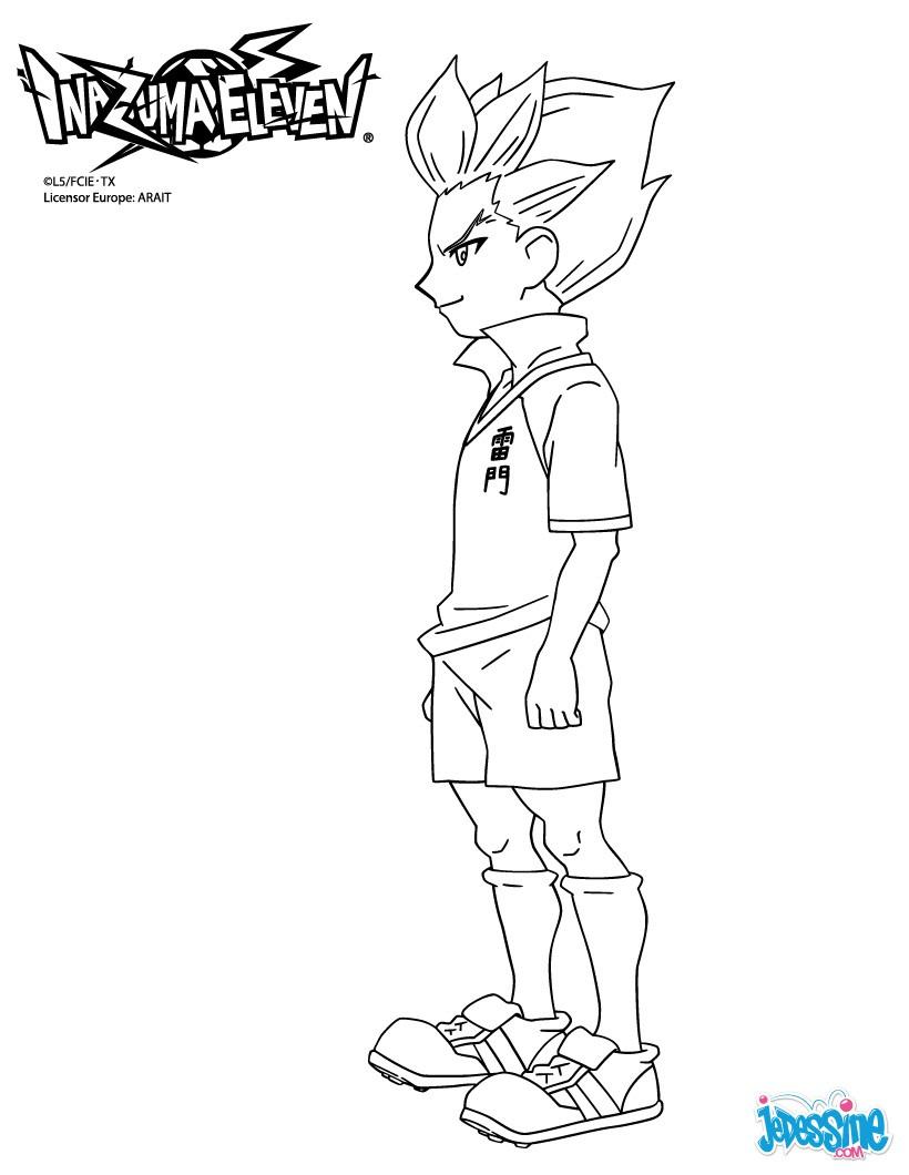 14 dessins de coloriage Inazuma Eleven Axel Blaze  imprimer