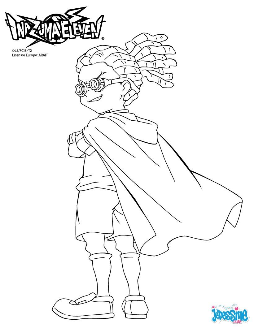 coloriage à dessiner inazuma eleven xavier