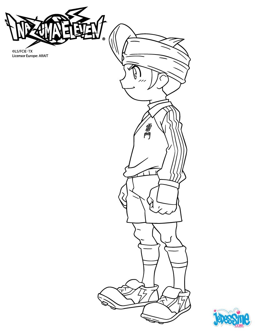 www.dessin à colorier inazuma eleven