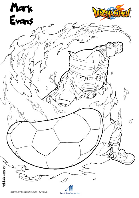 dessin à colorier inazuma eleven 2 torch