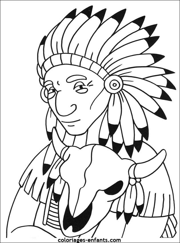 6 dessins de coloriage indien imprimer imprimer - Indien coloriage ...