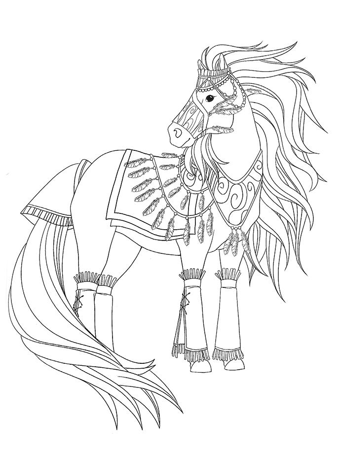 15 dessins de coloriage indien cheval imprimer - Dessin de chevale ...