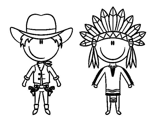 16 dessins de coloriage indien et cowboy imprimer - Fogli da colorare nativo americano ...