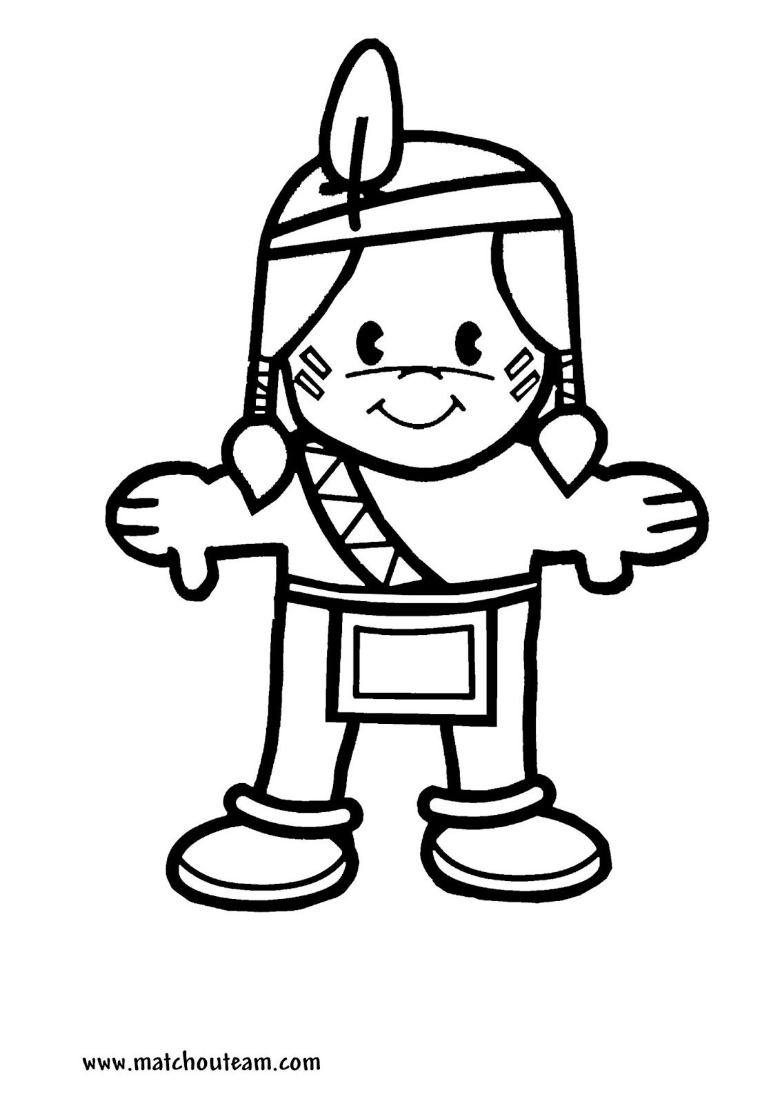 coloriage indien playmobil