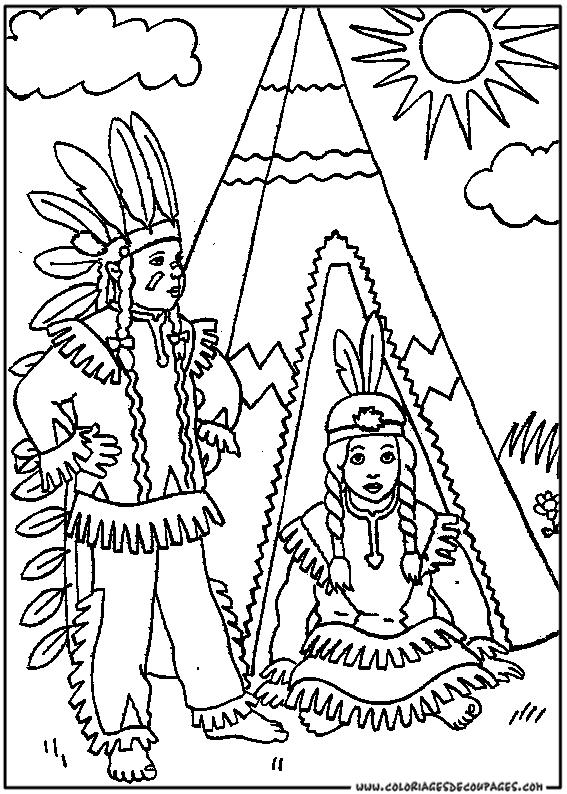 coloriage à dessiner maman indienne