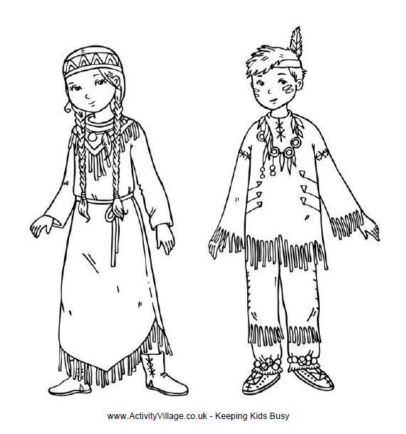 13 dessins de coloriage indiens d u0027amérique à imprimer