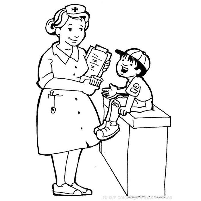 coloriage infirmiere imprimer gratuit