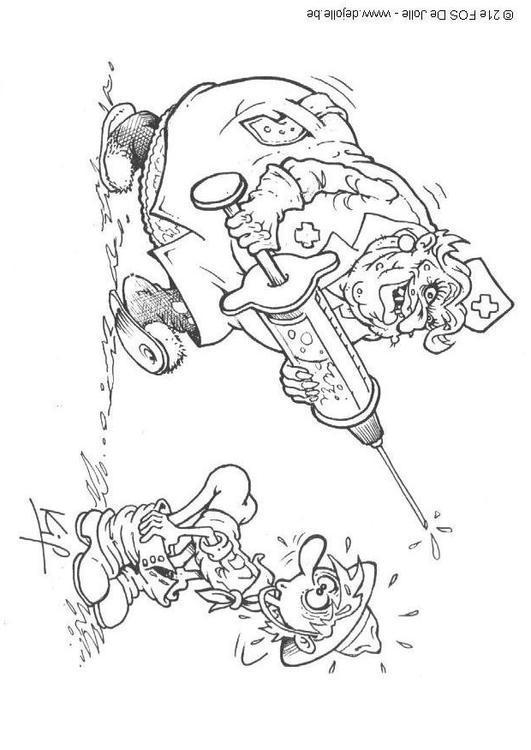 dessin à colorier d'infirmière a imprimer
