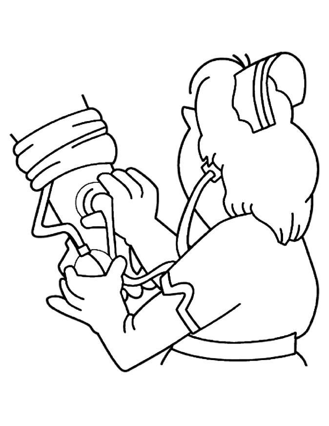 dessin à colorier infirmiere imprimer gratuit
