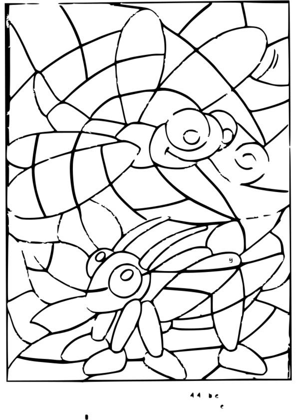 dessin à colorier insecte en ligne