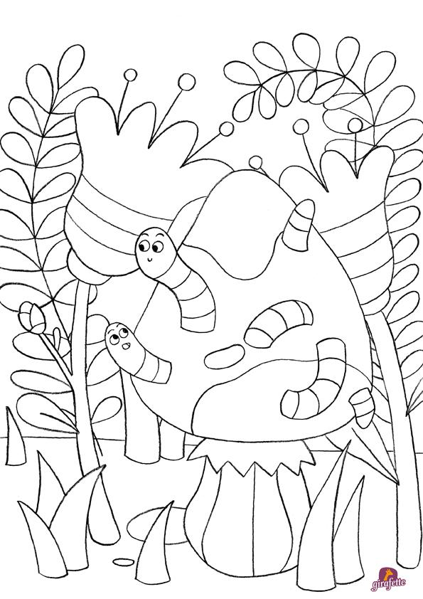 91 dessins de coloriage insectes hugo l 39 escargot imprimer - Dessin a imprimer hugo l escargot ...