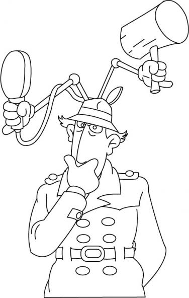dessin a imprimer gratuit inspecteur gadget