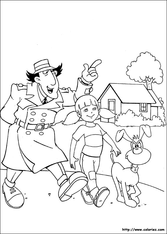 dessin de l'inspecteur gadget