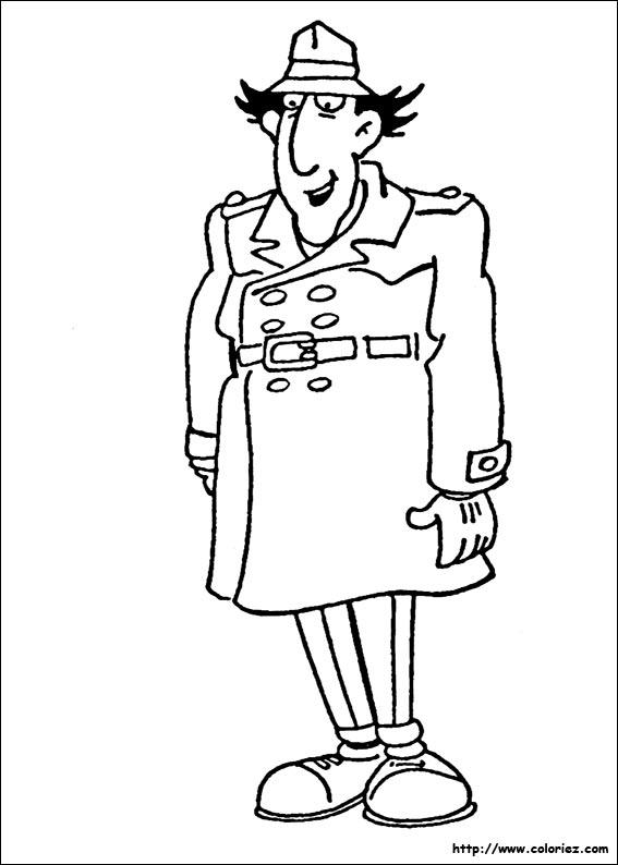 dessin � colorier d'inspecteur gadget