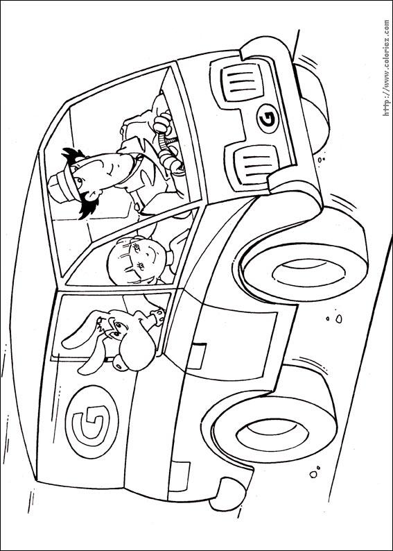 coloriage à dessiners inspecteur gadget imprimer