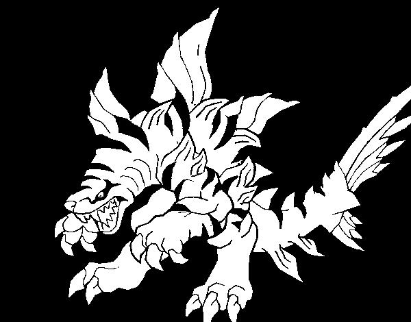 coloriage invizimals gold dragon