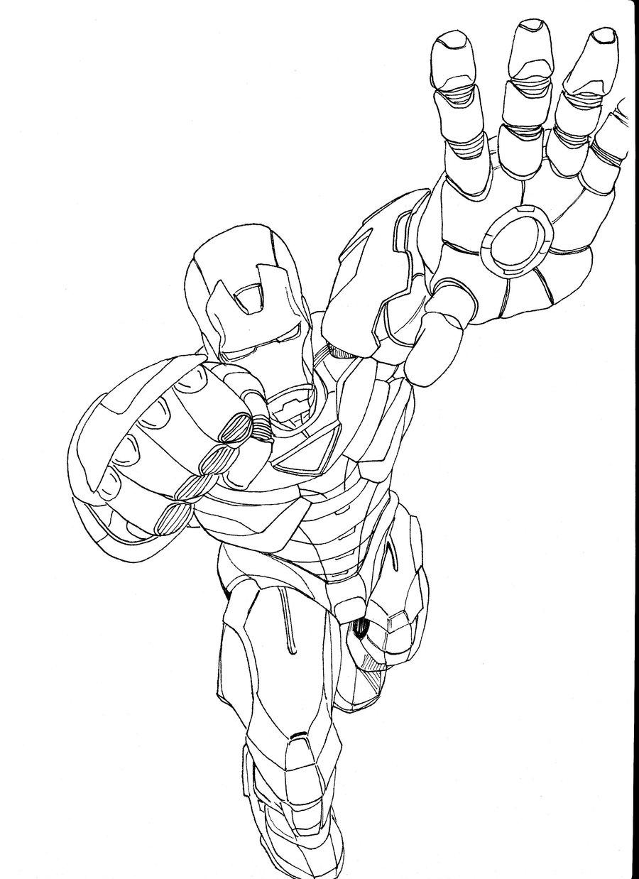 17 dessins de coloriage Iron Man 1 à imprimer