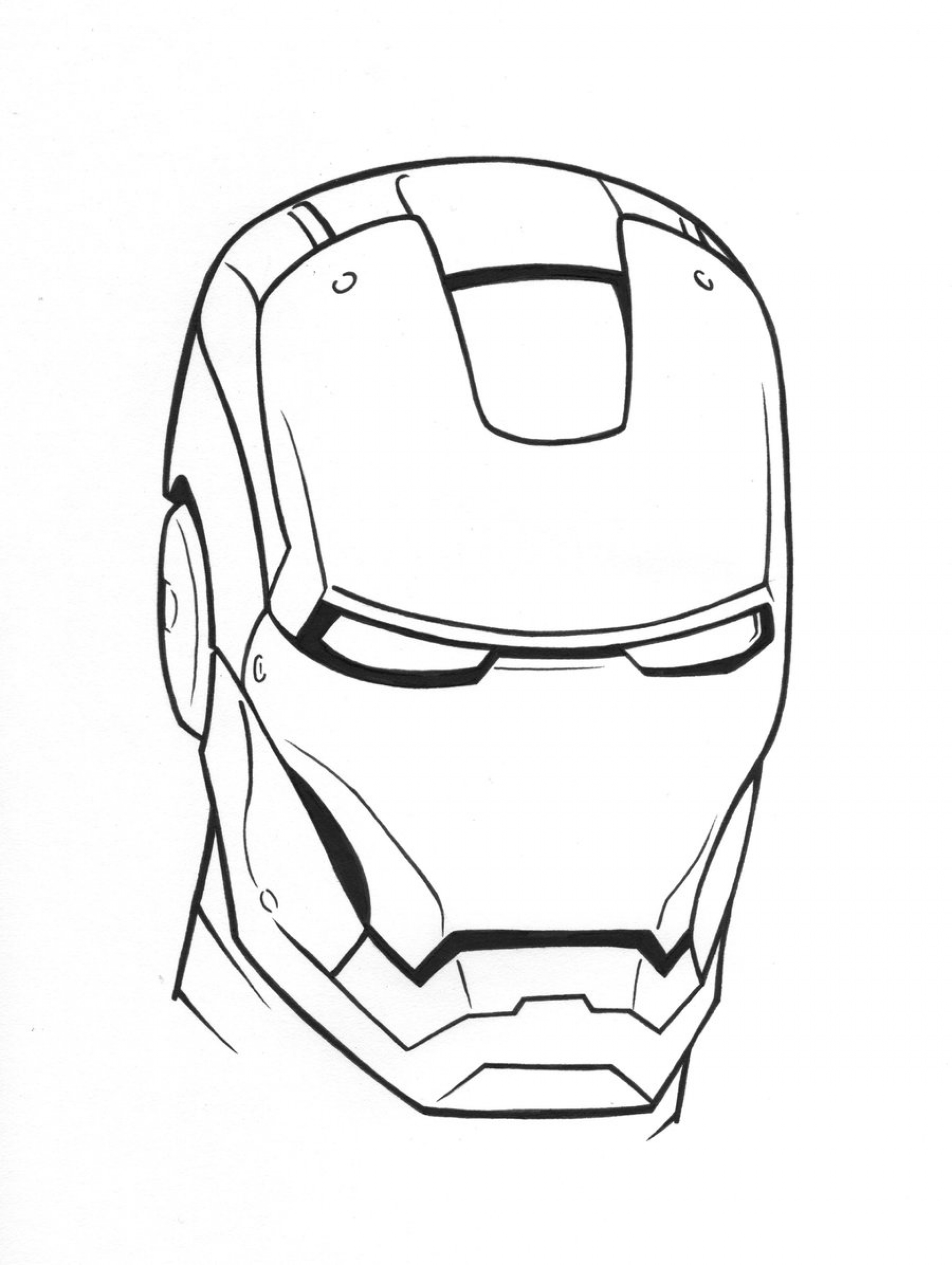 Iron Man Coloring Book Outlines Pictures to Pin on Pinterest