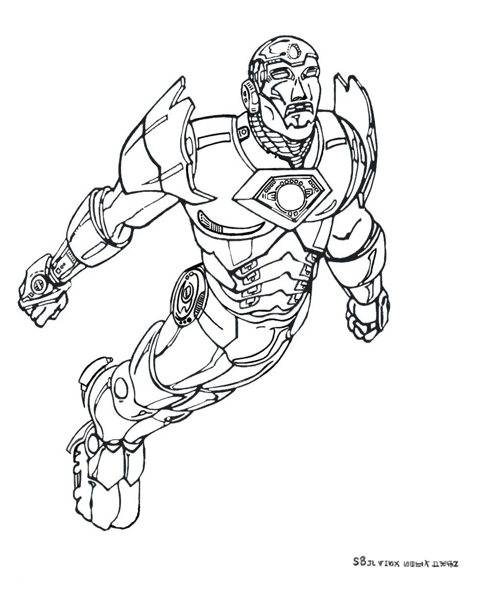 coloriage iron man 3 a imprimer