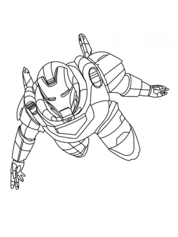dessin a colorier iron man avengers