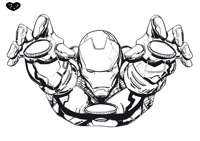 Coloriage de iron man 2 for Iron man da colorare