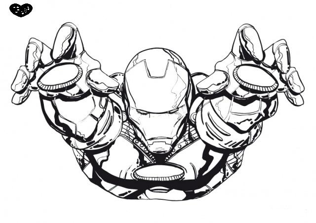 coloriage à dessiner ironman a imprimer gratuit