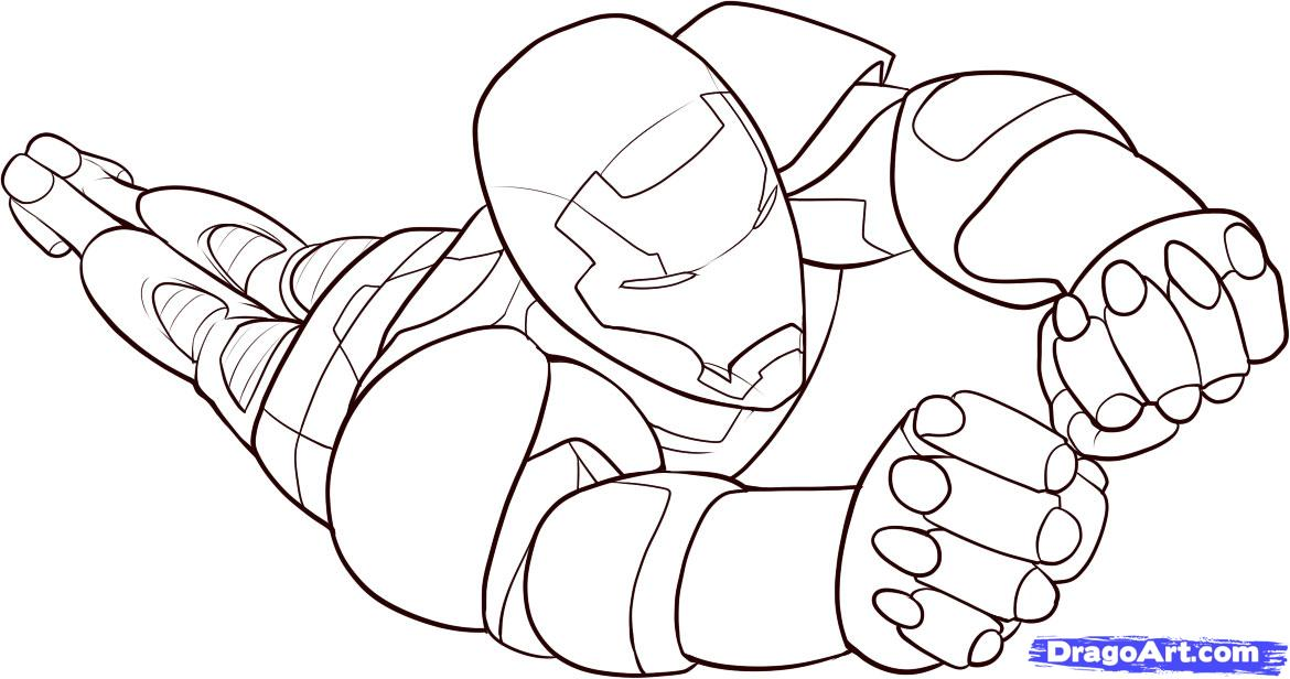 Dessin a colorier iron man gratuit - Coloriage ironman ...