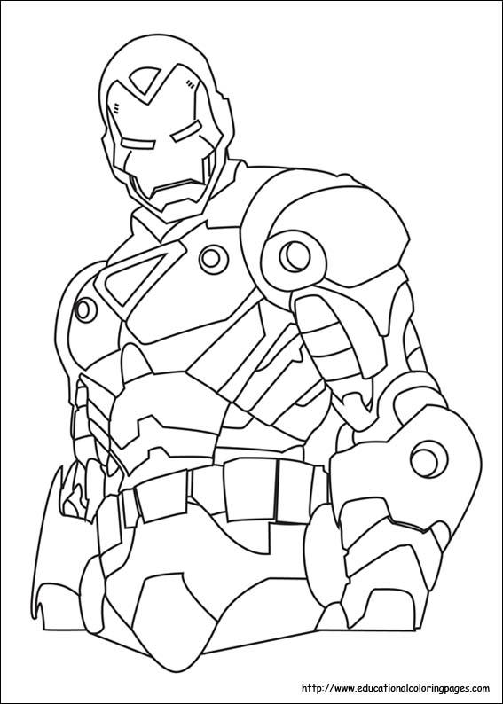 dessin de iron man en ligne