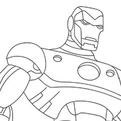 modele dessin à colorier iron man