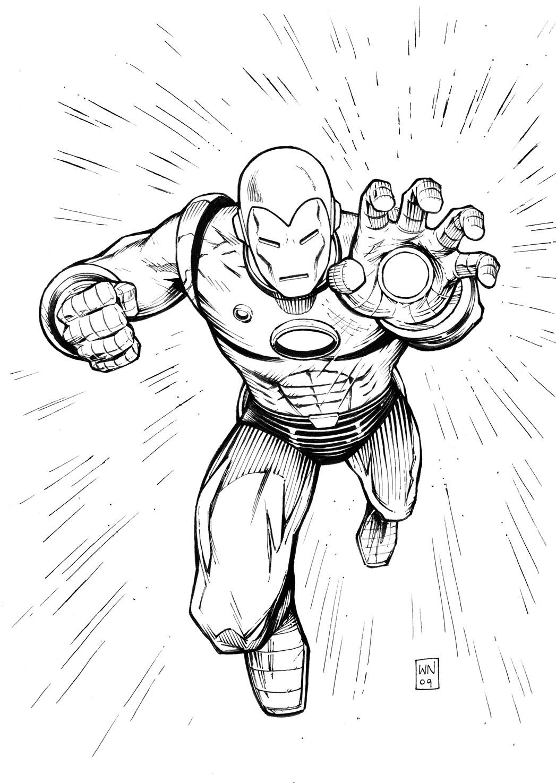 dessin à colorier iron man hulk
