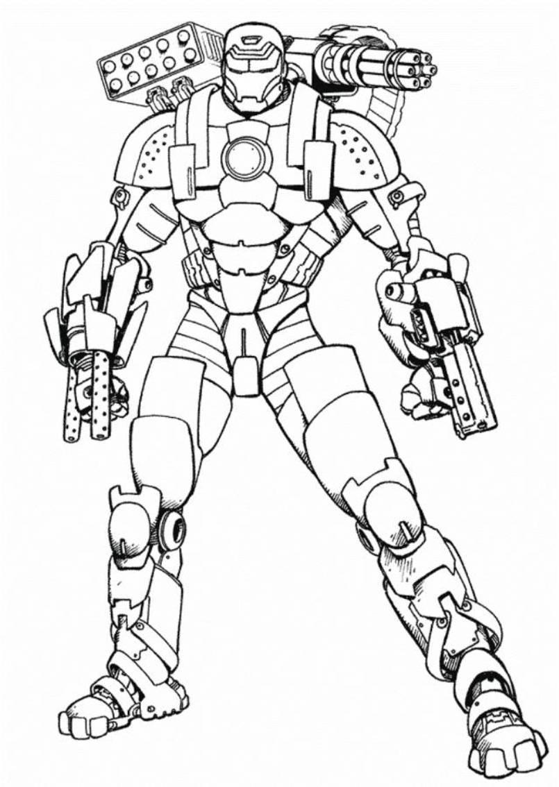 Dessin ironman a imprimer - Ironman coloriage ...