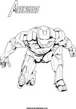 coloriage de iron man 3