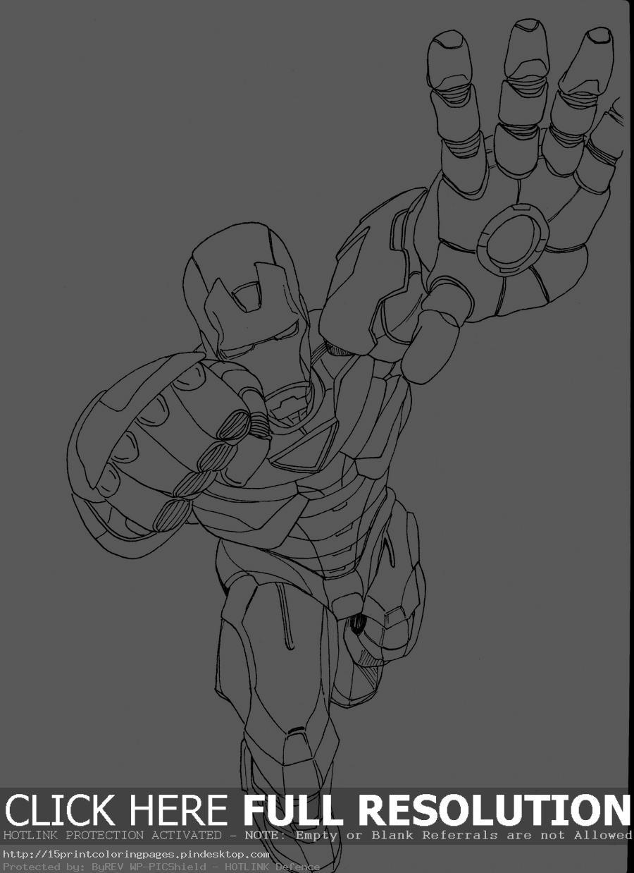 coloriage à dessiner de iron man 1