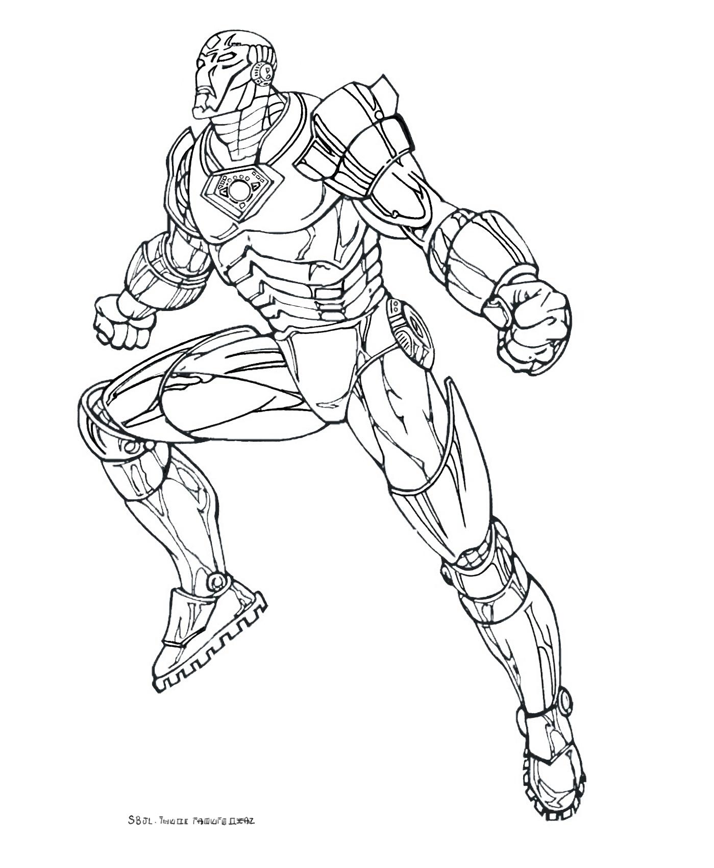 dessin à colorier iron man 3 a imprimer